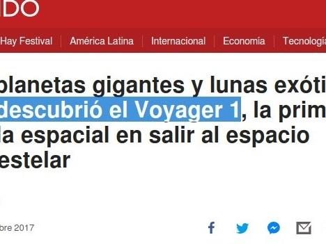 Las Voyager según la BBC