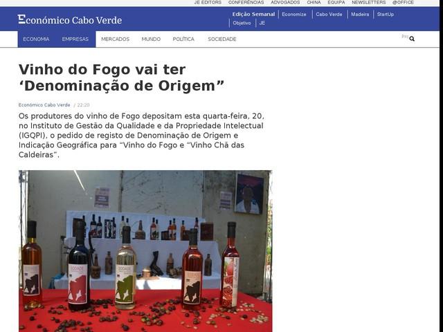 """Vinho do Fogo vai ter 'Denominação de Origem"""""""