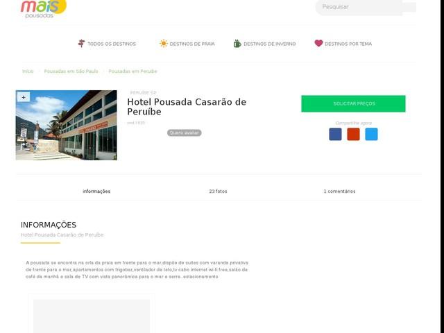 Hotel Pousada Casarão de Peruíbe - Peruibe - SP