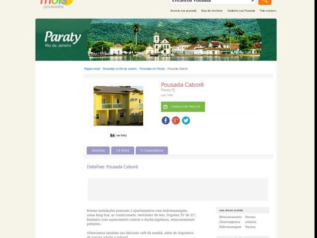 Pousada Caborê - Paraty - RJ