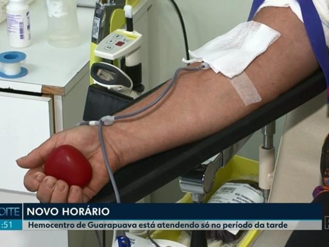 Hemocentro de Guarapuava reduz horário de atendimento e tem diminuição no estoque de sangue