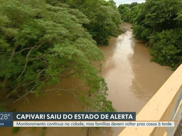 Nível do Rio Capivari baixa e famílias devem começar a voltar pra casa, diz prefeitura
