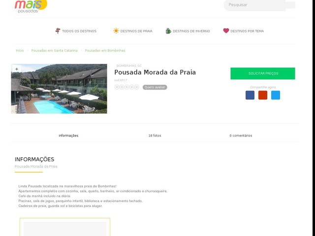 Pousada Morada da Praia - Bombinhas - SC