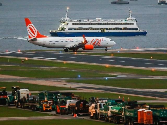 Obras na pista principal no Aeroporto Santos Dumont começam neste sábado