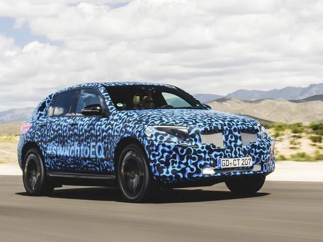 Mercedes EQC: SUV elétrico realiza testes de verão - fotos