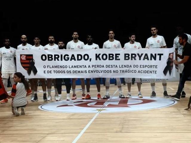 Flamengo presta homenagem a Kobe Bryant: 'Lenda do esporte'