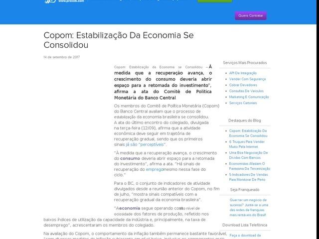 Copom: Estabilização Da Economia Se Consolidou