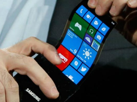 Smartphones dobráveis da Samsung estavam na CES 2018, mas é segredo