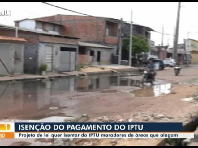 Projeto de lei em tramitação na CMB prevê isenção do IPTU para moradores que vivem em áreas de alagamento