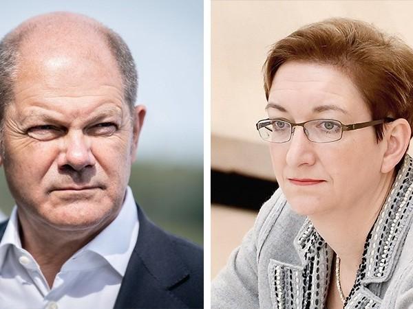 Scholz tritt mit Potsdamer Landtagsabgeordneter Geywitz für SPD-Vorsitz an