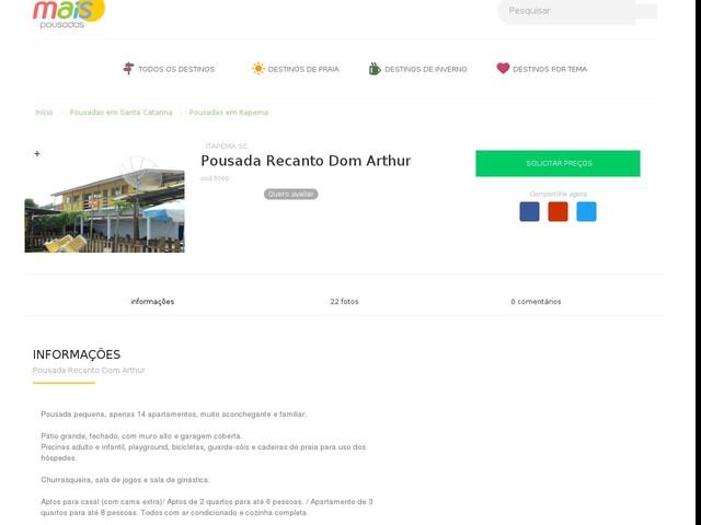 Pousada Recanto Dom Arthur - Itapema - SC