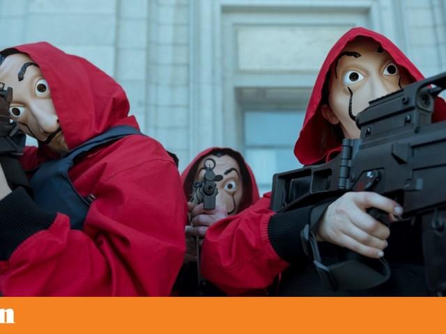 Nas filmagens de La Casa de Papel , em busca do seu novo plano de assalto à cultura pop