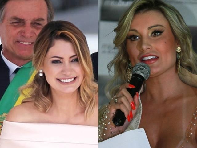 Gêmeas! Esposa de Jair Bolsonaro é confundida com Andressa Urach e vira piada