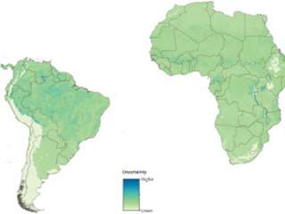 Zonas de risco de infecção de febre amarela em todo o mundo