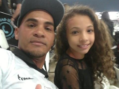Sebastião de Jesus Santos Alves com a filha Julia – São Miguel Paulista – SP