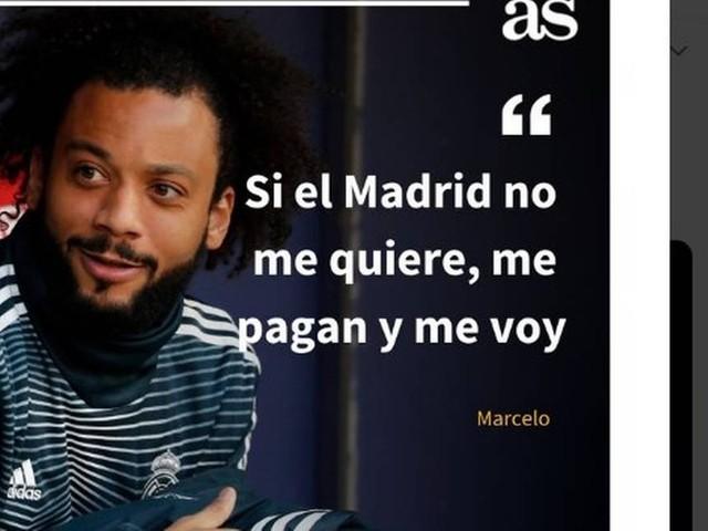 Marcelo: 'Se o Real não me quer, me paguem e vou embora'