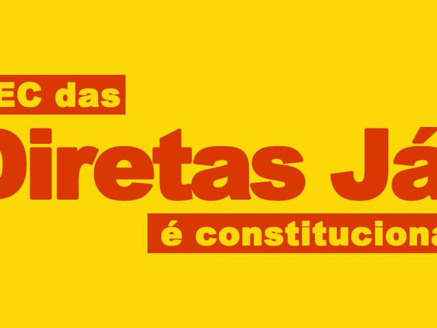 PEC das Diretas é constitucional!