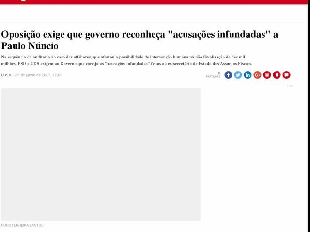 """Oposição exige que governo reconheça """"acusações infundadas"""" a Paulo Núncio"""