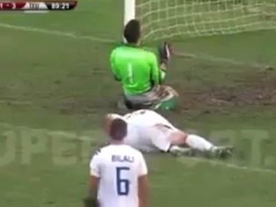 Zagueiro albanês erra o lado e marca gol contra no último minuto