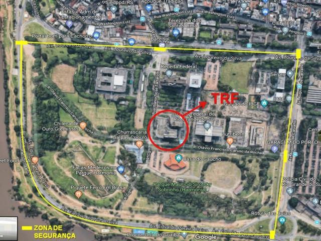 Julgamento de Lula: entorno do TRF-4 terá bloqueio aéreo, terrestre e naval
