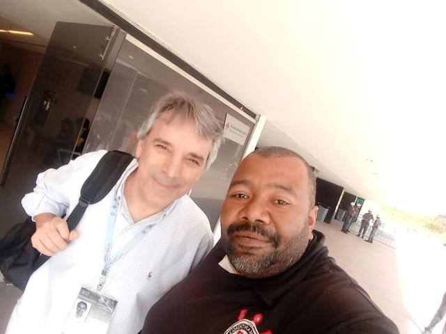 André Luiz dos Santos com Oscar Ulisses – São Miguel Paulista – SP