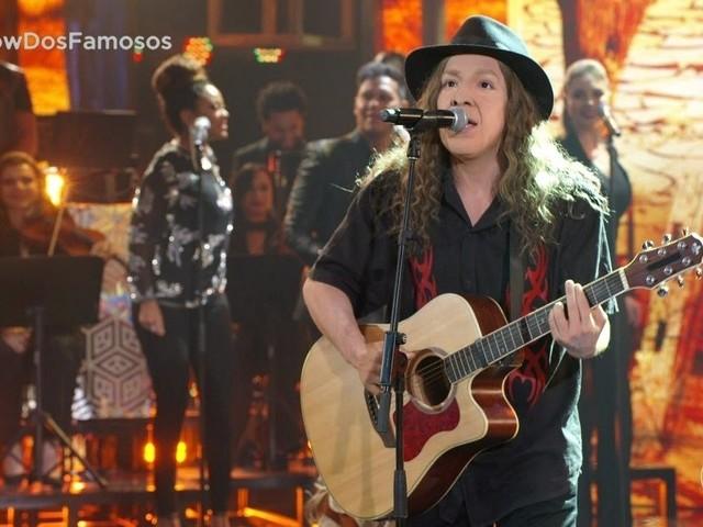 Di Ferrero ganha favoritismo do público ao cantar Alceu Valença no Show dos Famosos