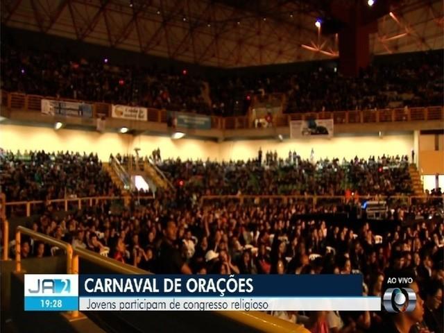 Mais de 18 mil jovens participam de congresso evangélico em Goiânia durante o carnaval