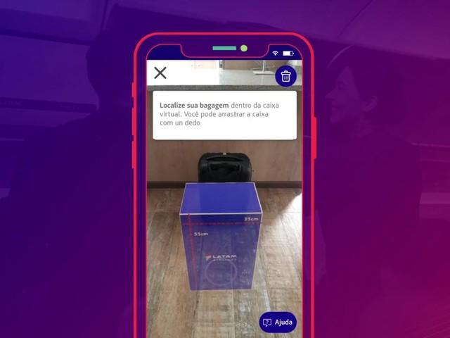 Passageiro poderá medir bagagem de mão com aplicativo da Latam