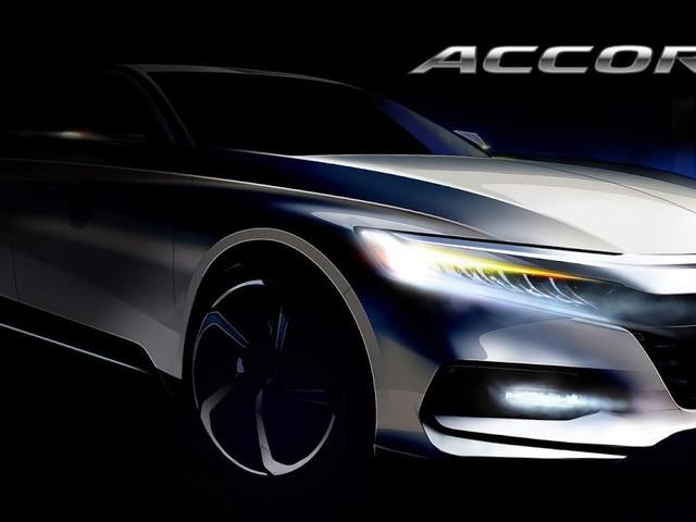 Novo Honda Accord 2018: primeira imagem oficial divulgada