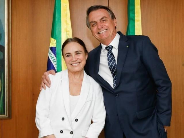 Bolsonaro pega Regina Duarte de surpresa e dá ordem radical à atriz mesmo antes de ela aceitar convite