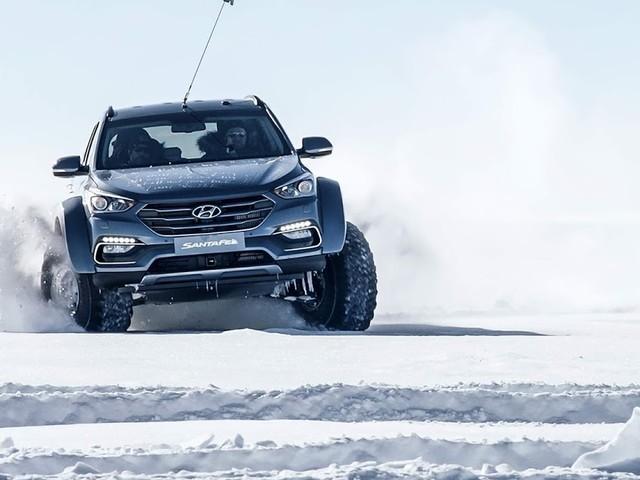 """Hyundai Santa Fé faz uma """"trilha"""" de 5.800 km na Antártida"""