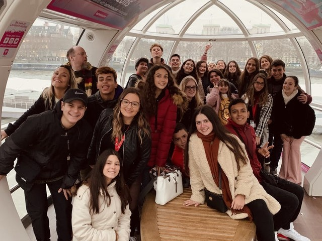 London Eye! All the way to the top!