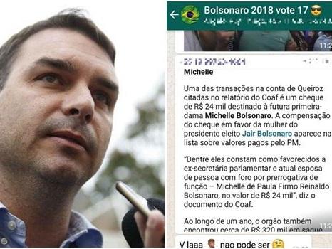 Flávio Bolsonaro abandona grupo de WhatsApp sem dar explicações