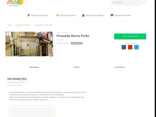Pousada Barra Porto - Salvador - BA