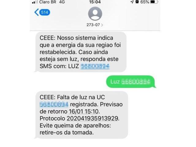Por que mensagens da CEEE erraram o horário do retorno da energia em Porto Alegre