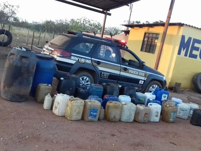 Homem é preso por venda clandestina de combustíveis na BR-365