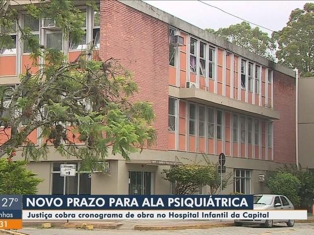 Justiça fixa prazo e cobra cronograma de obra para ala psiquiátrica no Hospital Infantil de Florianópolis