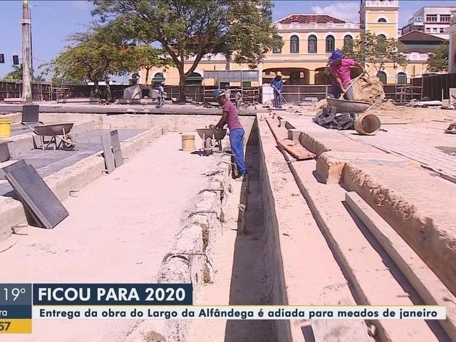 Entrega da revitalização do largo da alfândega, em Florianópolis, é adiado pela quarta vez