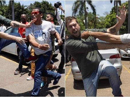 Imagem de invasor sendo expulso da embaixada venezuelana repercute no mundo