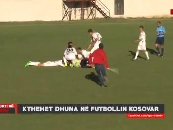 Torcedor agride jogador com barra de ferro após gol de goleiro