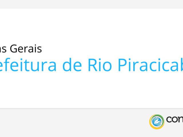 Concurso Rio Piracicaba - MG: Prefeitura anuncia edital n° 001/2019