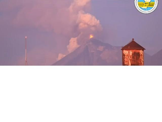 Vulcão de Fogo entra em erupção na Guatemala