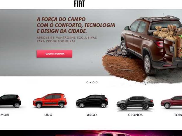 Fiat lança site novo e retira Palio e Punto de configuração