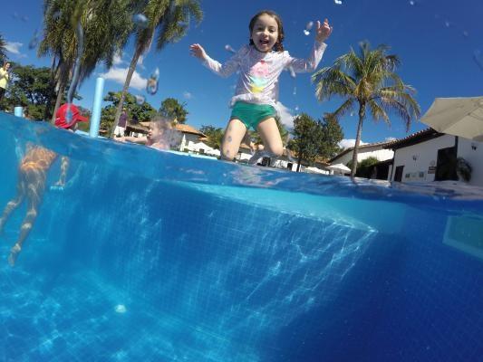 A piscina nova, festa Junina e férias de julho na Fazenda Capoava