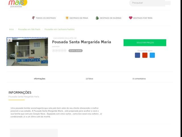 Pousada Santa Margarida Maria - Cachoeira Paulista - SP