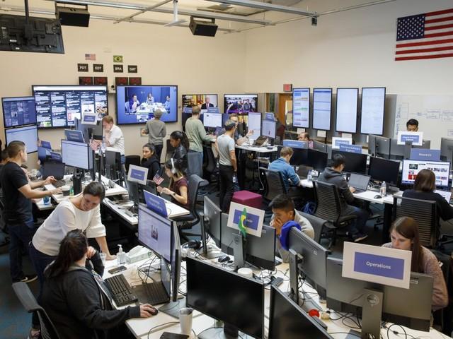 A sala de guerra do Facebook para as eleições dos EUA e do Brasil