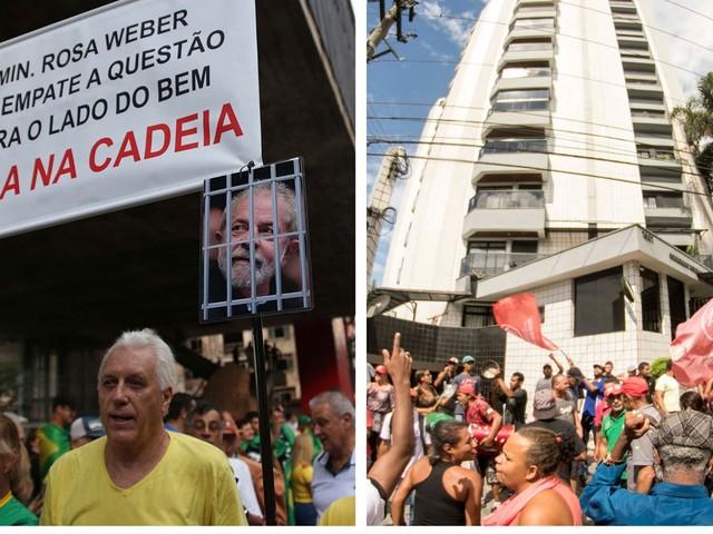 SP tem atos pró e contra Lula um dia antes de julgamento de habeas corpus