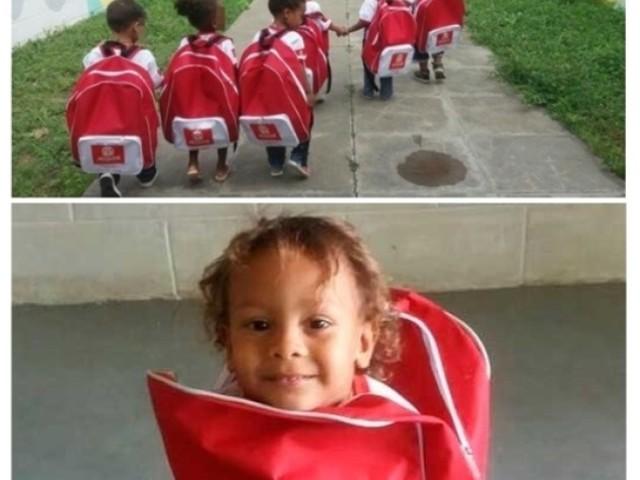 Parabéns para a cidade de Jequié que deu mochila e moradia para as crianças