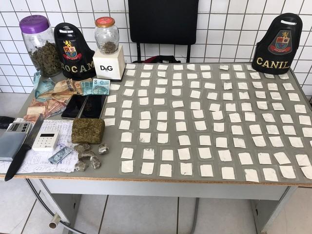 Casal é preso ao ser flagrado com porções de cocaína e maconha em Tatuí