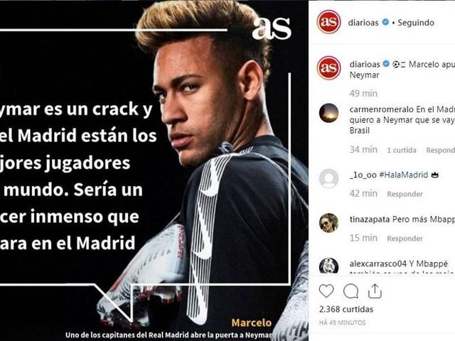 Marcelo abre as portas do Real para Neymar: 'Seria um prazer imenso'